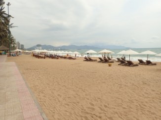 The beach at Nha Trang on the cusp of the high season.