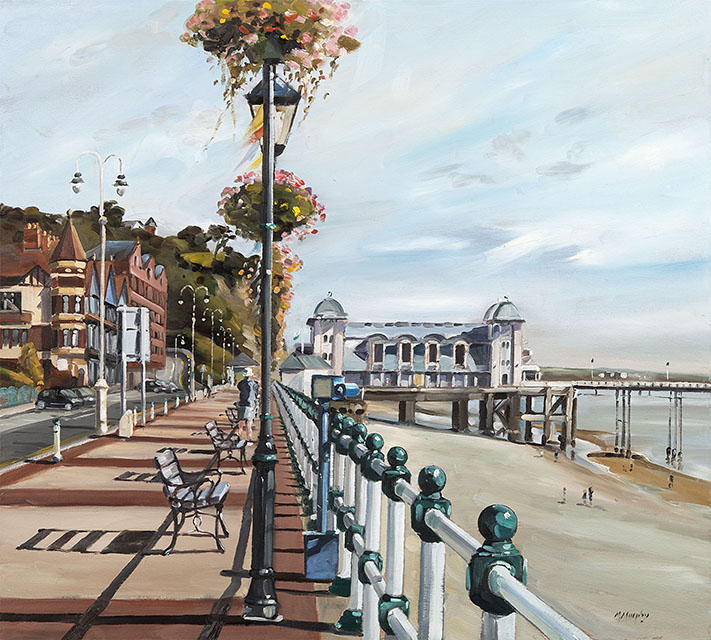 bank holiday penarth oil painting