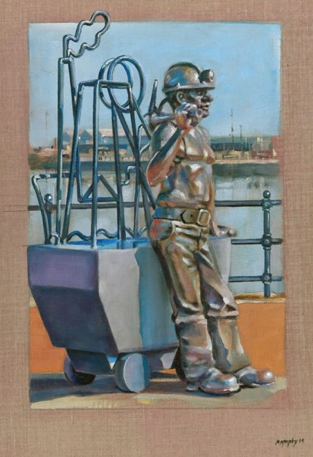Cardiff Bay Statue by John Clinch