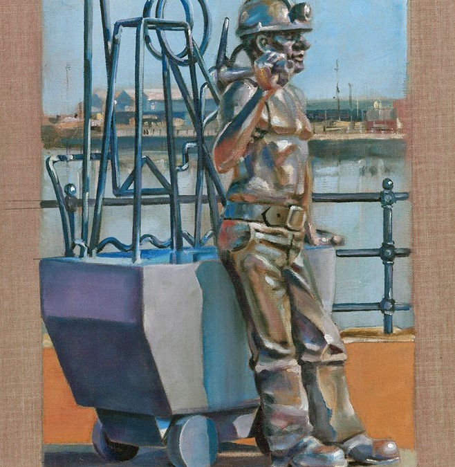 Study of Sculpture by John Clinch Cardiff Bay