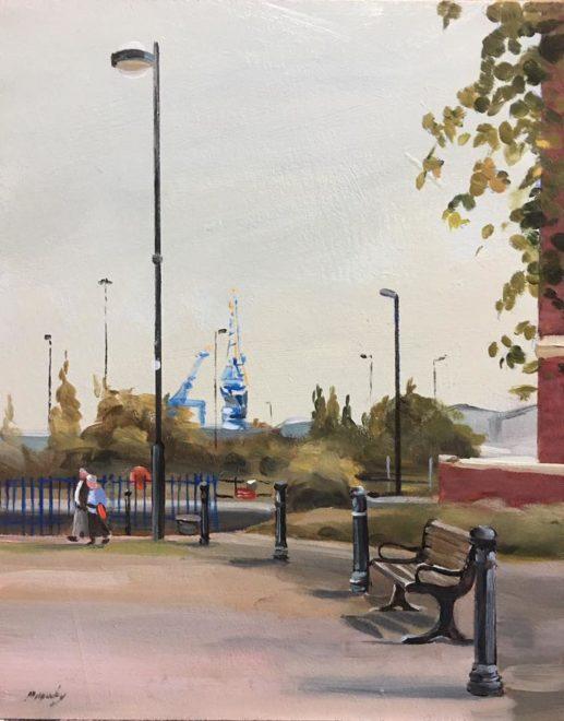 ardiff Docks Plein Air Painting
