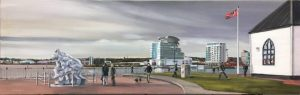 Oil Painting Cardiff bay