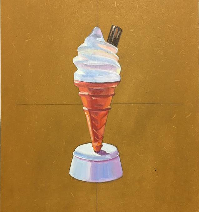 Still Life Study: Plastic Ice Cream