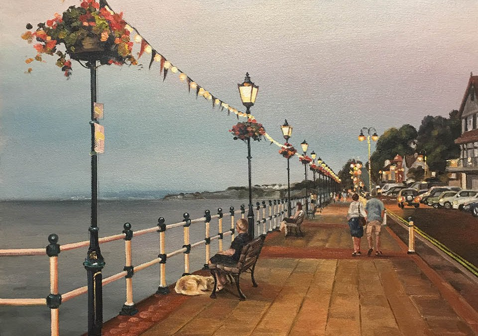 Early Evening Lights Penarth Esplanade