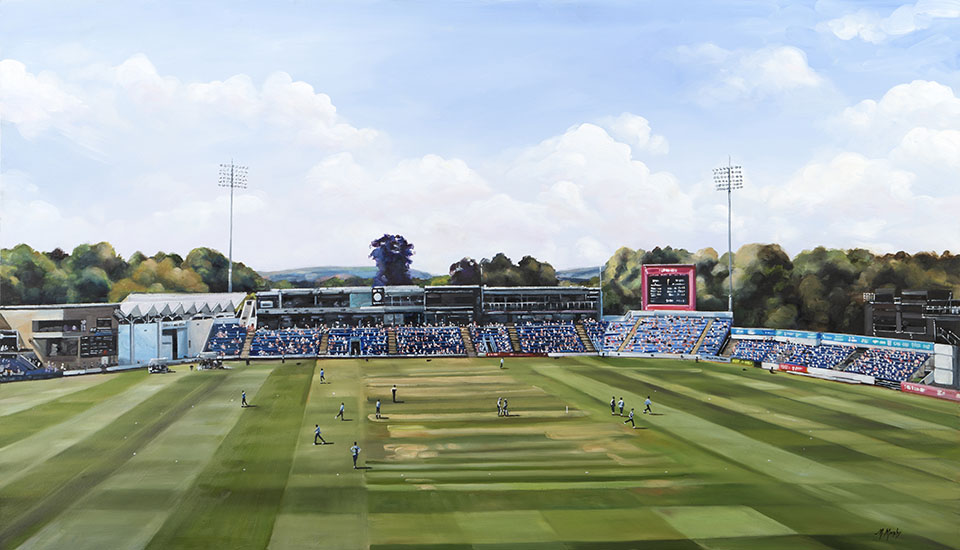 Glamorgan Cricket Club Painting