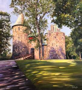 Castle Coch in Dappled Sunshine
