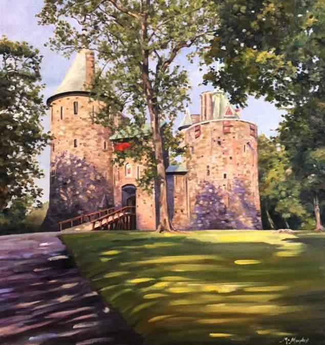 Castle Coch in Dappled Sunshine