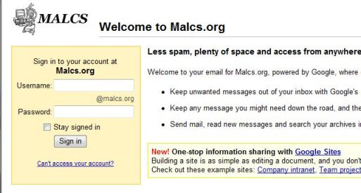 Click here to go to MALCS mail!