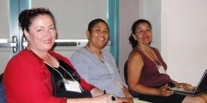 Gabriella Gutierrez y Muhs, Linda Garcia-Merchant, and webjefa Susana Gallardo