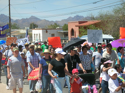 Tucson, AZ Immigrant Rights Protest. April 2006. Photo credit: Laura Briggs