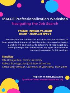 MALCS Navigating the Job Search Workshop