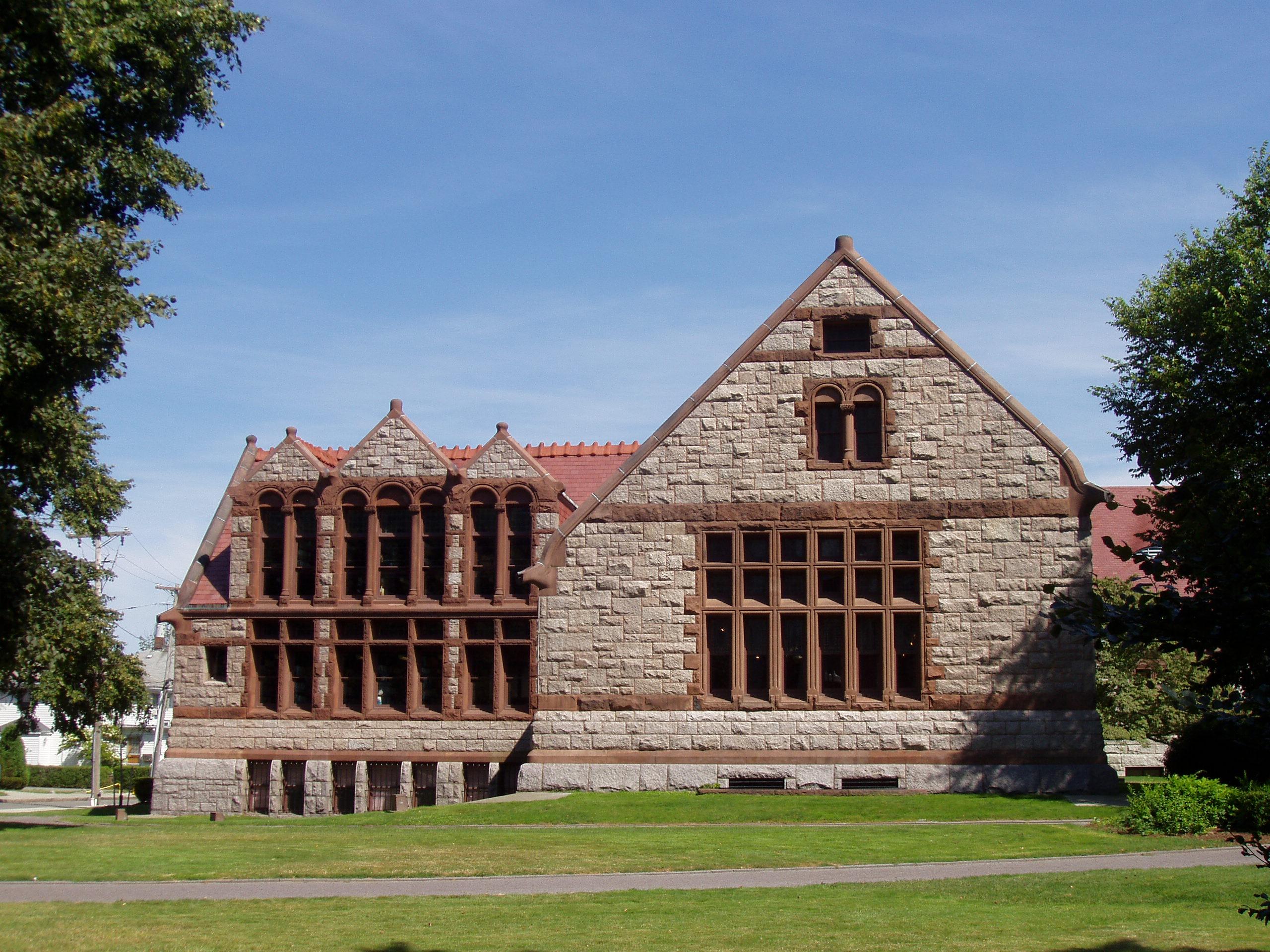 H h richardson malden public library for Richardson architect