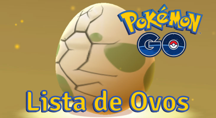 Pokemon Go Lista de Ovos