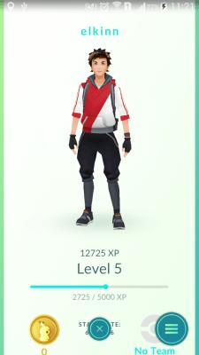 Pokemon go trainer status