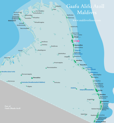 Maldives Map With Resorts, Airports and Local Islands 2019