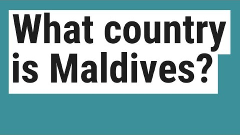 Where Is Maldives Islands Located