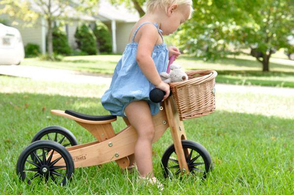 Tiny Tot 2u1 drveni bicikl Bamboo