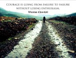 Winston Churchill Courage with Enthusiasm