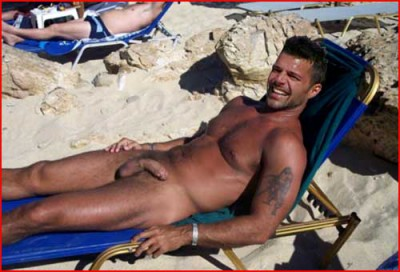 Ricky Martin Nude Sunbathing