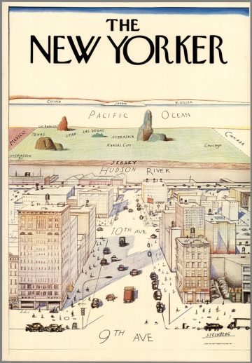 new yorker map of the world