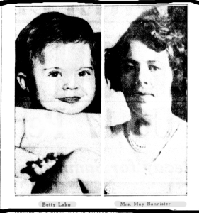 May Bannister and Baby Betty