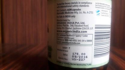 Organic India Moringa Price