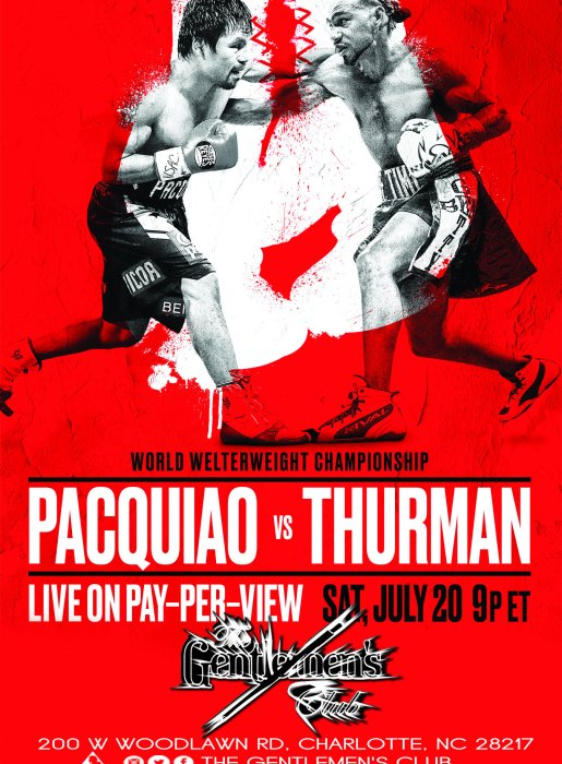 Pacquiao vs. Thurman – World Welterweight Championship LIVE on Pay-Per-View // Saturday, July 20th 9pm