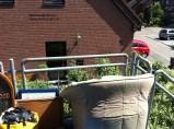 Möbel wurden teilweise auf den Balkon geräumt
