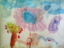 Übungen, mit Aquarellstiften zu malen