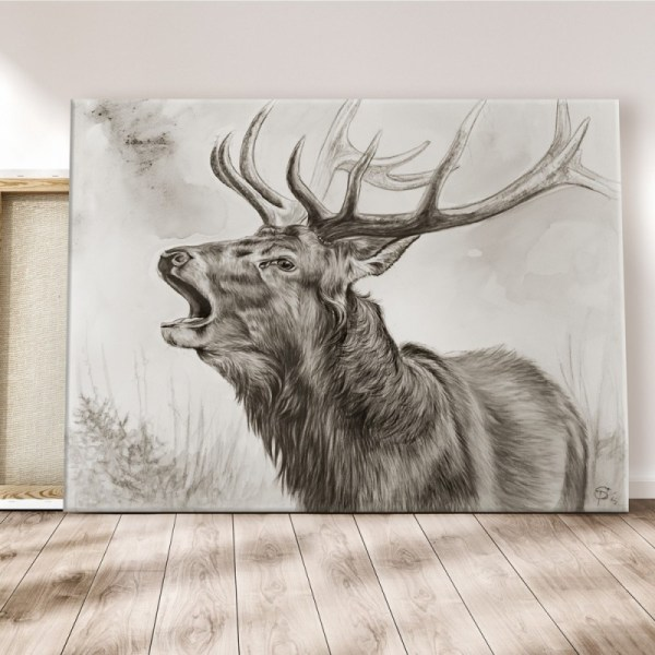 Hirsch röhrend