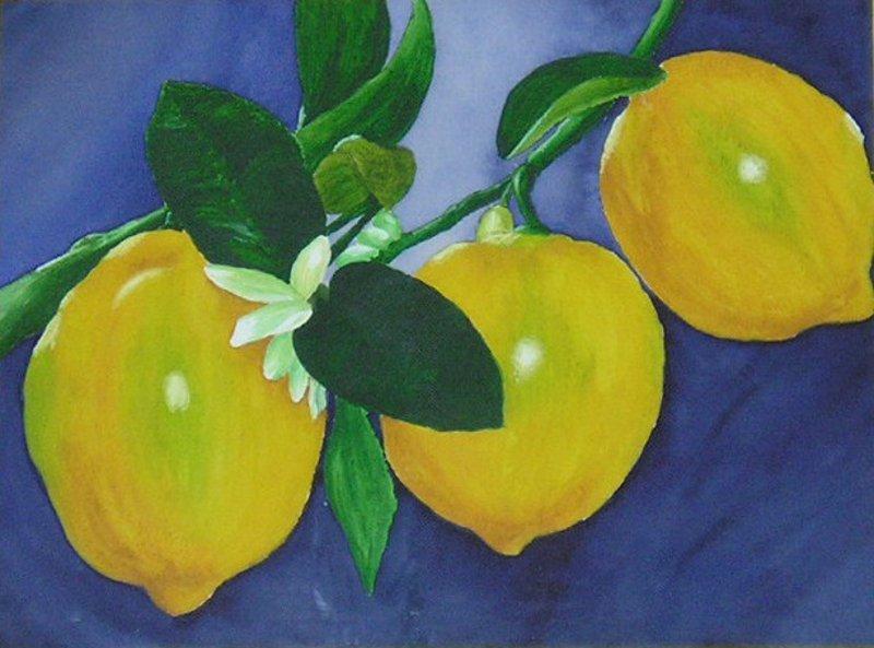 Zitronen-Aquarell