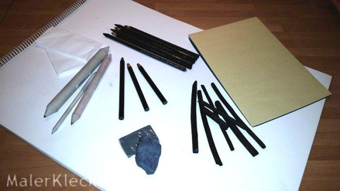 Material für die Kohlezeichnung
