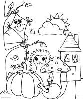 Herbstbild Zum Ausmalen Und Ausdrucken   Malvorlagen