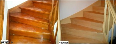 Alte Holztreppe Schritt für Schritt Sanieren und