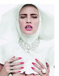 Lara Stone by Cedric Buchet for Vogue Paris