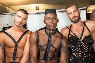 Backstage at Jean Paul Gaultier Spring / Summer 2013 Madonna dancers?