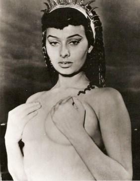 "Sophia Loren in ""2 Nights with Cleopatra"" 1953"