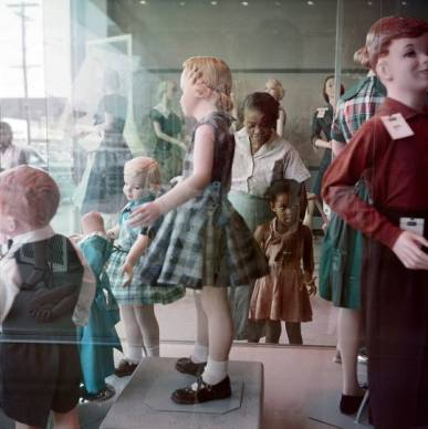 Gordon Parks, Ondria Tanner and Her Grandmother Window-Shopping, Mobile, Alabama, 1956