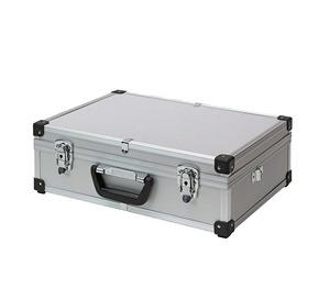 maletín de aluminio gris