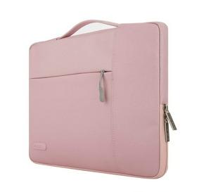 maletin portátil de mujer rosa