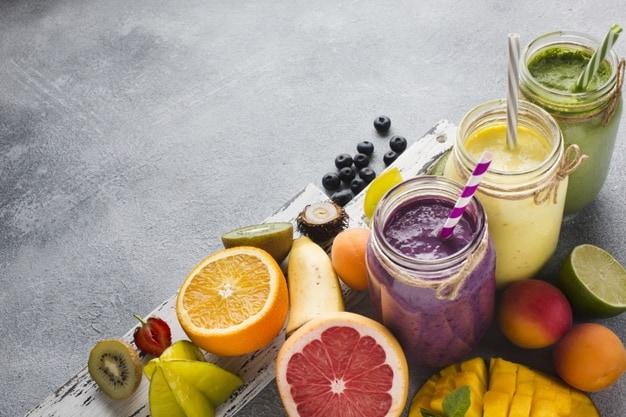 frutas e sucos