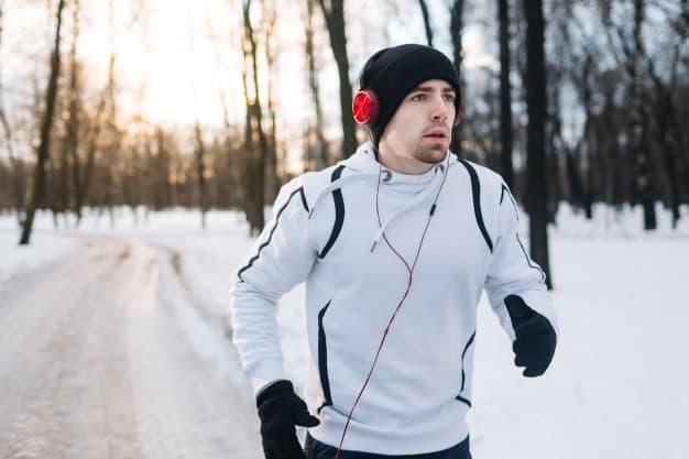 correndo no frio