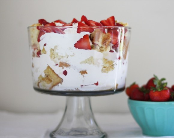 strawberry tres leches trifle
