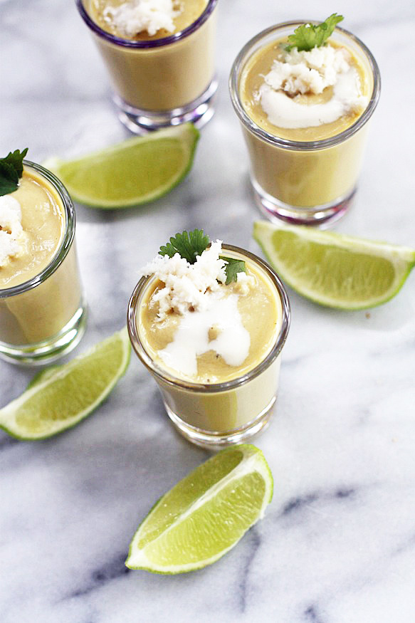 Avocado Soup Shooters
