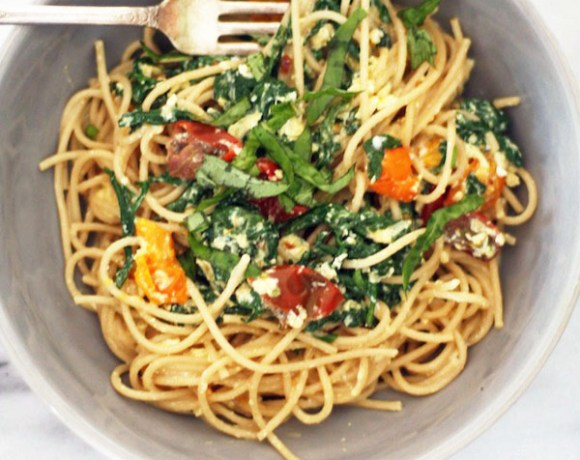 """hurry up"" spaghetti [vegetarian, gluten-free, clean-eating]"