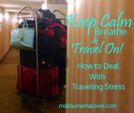 deal with traveling stress