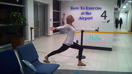how to exercise at the airporrt