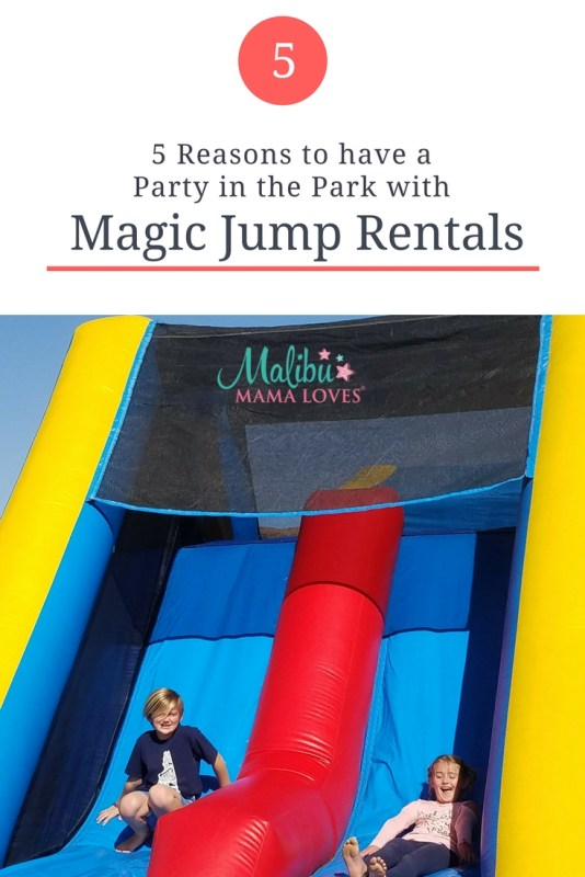 Conscious Living: 5 Reasons to Have a Party in the Park with Magic Jump House