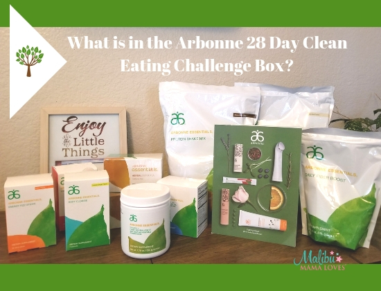 What is in the arbonne 28 day clean eating challenge box