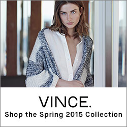 Vince Womens Spring / Summer 2015 Collection